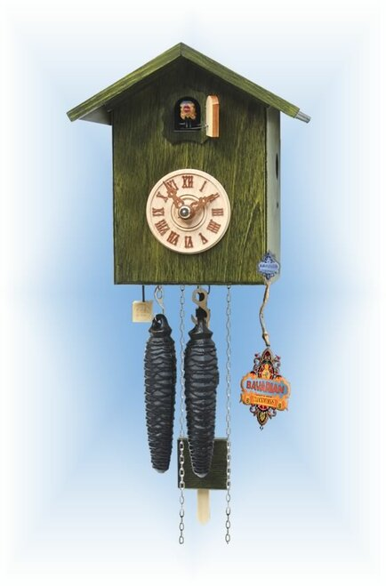 Rombach & Haas | sk12-4 | 7''H | Simple Bird 4 | Modern | cuckoo clock | full view