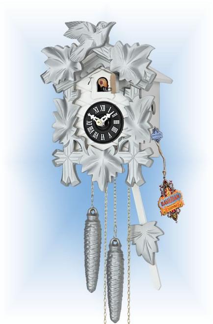 Hekas | 1606S | 8''H | Silver Mod | Modern | cuckoo clock | full view