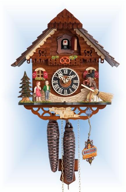 Hones | 1213 | 9''H | Hansel & Gretel | Chalet style | cuckoo clock | full view