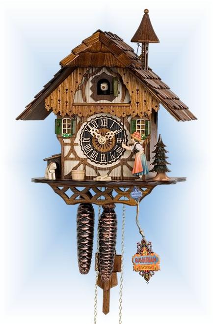 Hones   1294   12''H   Bell Ringer   Chalet style   cuckoo clock   full view