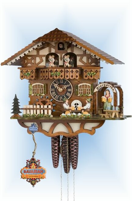 Hones cuckoo clock | 6764t-zenzi | 12''H | Brew House | Chalet style | full view