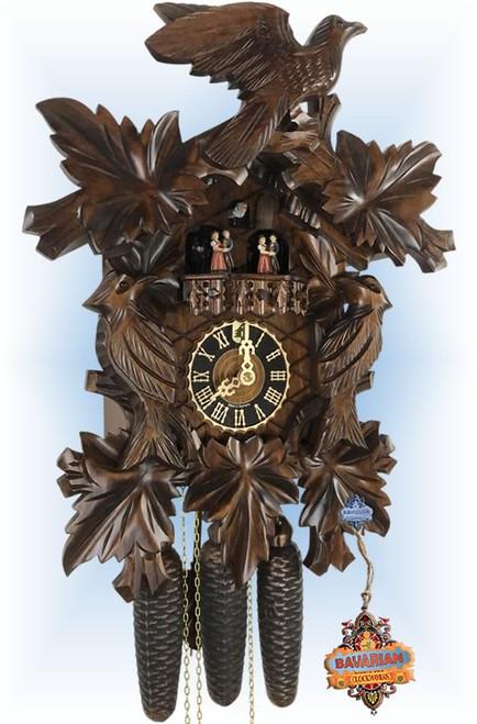 "Seven Leaves 19"" Cuckoo Clock"
