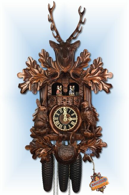 Hones | 86234-4t | 20''H | Game Hunters | Traditional | cuckoo clock | full view