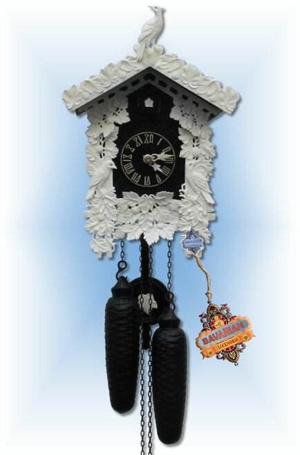 Sternreiter | 8226B | 12''H | Black Bone | Traditional | cuckoo clock | full view