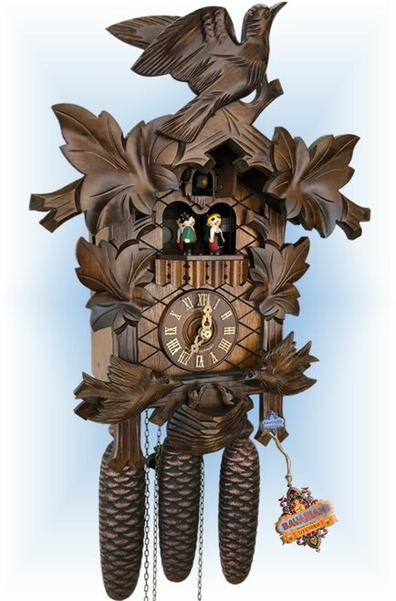 Schneider | 17''H | Feeding Birds | Traditional | cuckoo clock | full view