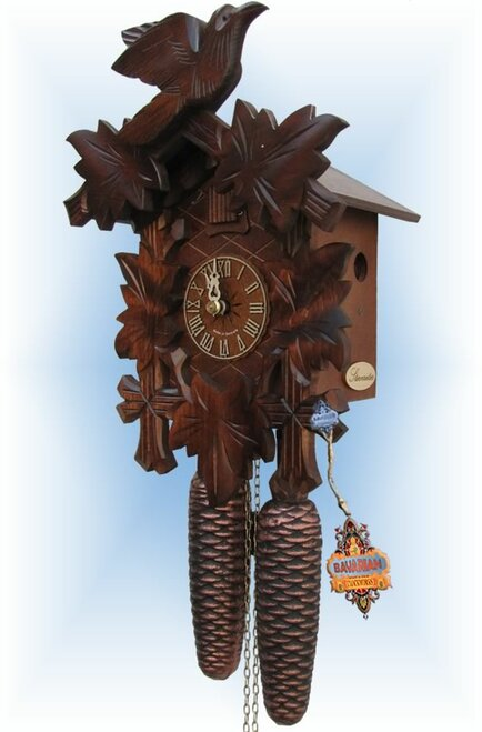 Sternreiter Bird and Leaf 12''H Hand Carved German Cuckoo Clock | Right View