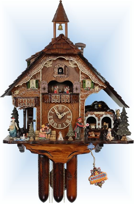 Cuckoo Clock chalet style 25 inch Next Stop Black Forest by HerrZeit