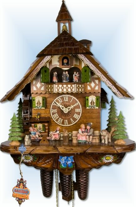 Happy Family 21 inch German Cuckoo Clock | Front View