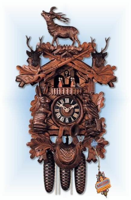 Hones coo coo clock | 8639-6 | 20''H | Standing Buck II | Traditional | full view