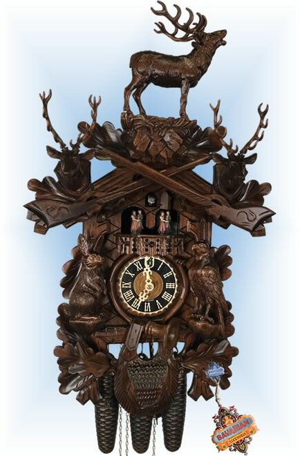 Hones cuckoo clocks | 8639-65 | 20''H | Standing Buck II | Traditional | full view