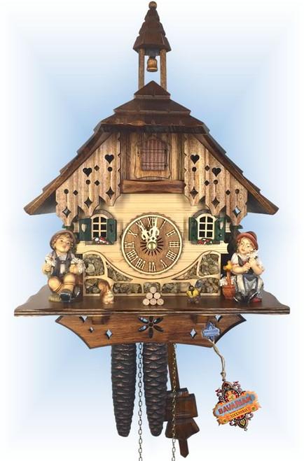 Happy Siblings cuckoo clock   by Adolf Herr