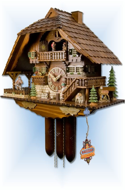 Adolf Herr | 840/1-8TMT | 18''H | Chopper & Hunter | Chalet style | cuckoo clock | right