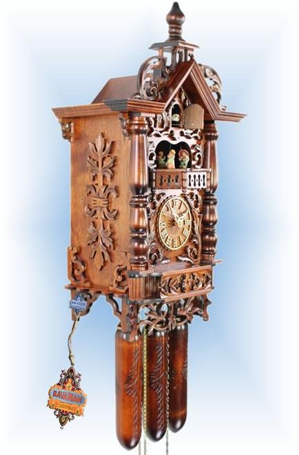 Adolf Herr 1870 Railway House | 21''H Antique Cuckoo Clock | Left View