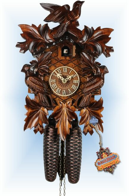 Adolf Herr | 322/1 | 12''H | The Cuckoo Bird | Traditional | coo coo clock | full view