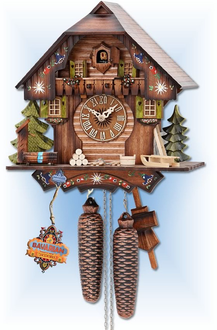 Hekas cuckoo clock | 876 | 12''H | Alpine Forest | Chalet style | full view
