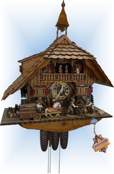 Schneider | 23''H | See Thru Mill | Chalet style | cuckoo clock | full view
