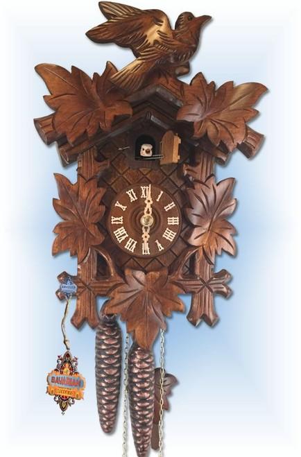 Bird and Leaf 12 inch German Cuckoo Clock | Side View