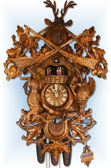 Classic Hunter 24 inch German Cuckoo Clock | Front View
