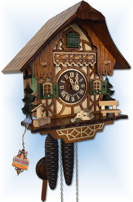August Schwer | 1.0260.01.C | 9''H | Classic Cottage | Chalet | cuckoo clock | Left