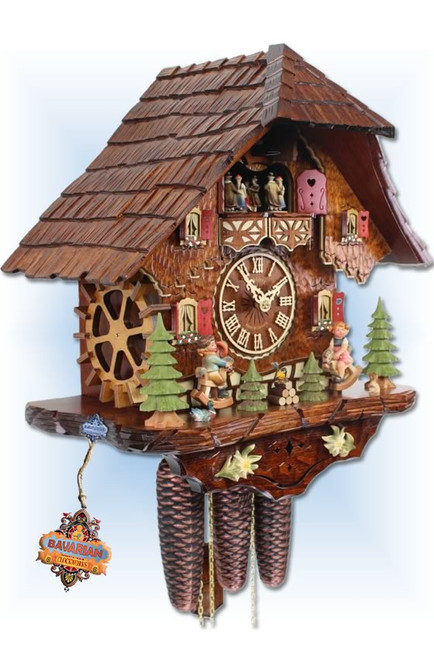 Adolf Herr | 818/1 8TMT | 16 inch | Rocking Horse | Chalet | cuckoo clock | left view