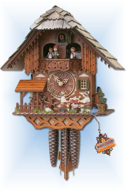 Mill Toast cuckoo clock - full view
