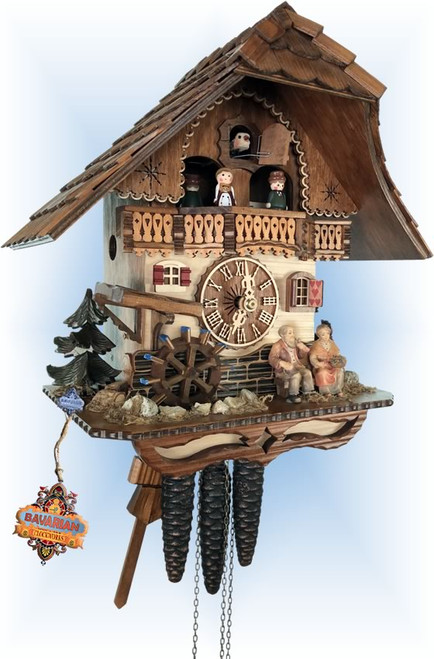 grandparents cuckoo clock - left angle view