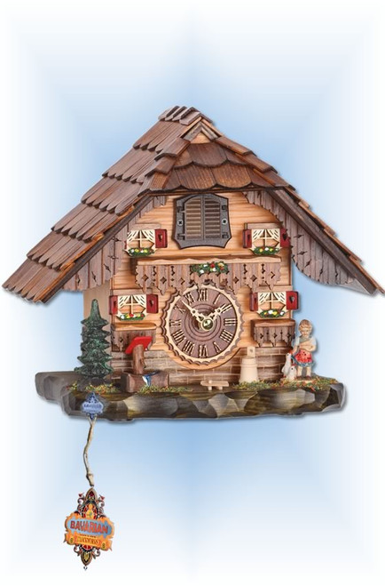 Trenkle | 486 QM | 8 inch | Black Forest Mantle | Chalet | cuckoo clock | full view 2