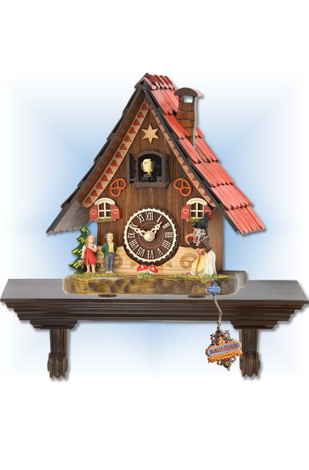 Trenkle | 501 QM | 8 inch | Fairytale Mantle | Chalet | cuckoo clock | full view