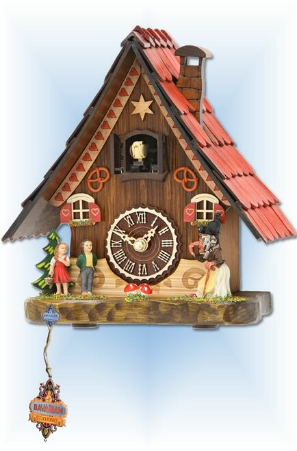 Trenkle | 501 QM | 8 inch | Fairytale Mantle | Chalet | cuckoo clock | full view 2
