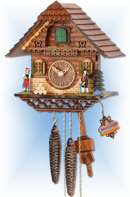 Traditional Forest cuckoo clock - full view