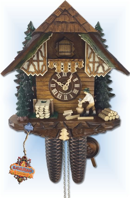 Schwer 2.0326.01.C Evergreen Cottage cuckoo clock-front