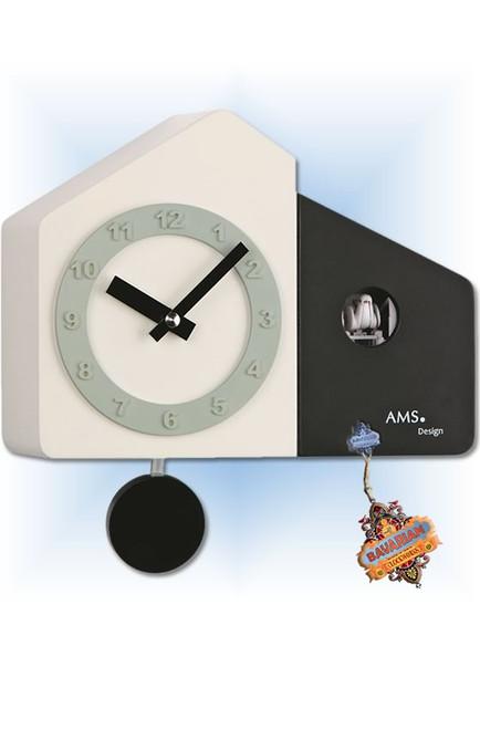 Modern Tuxedo cuckoo clock - full view