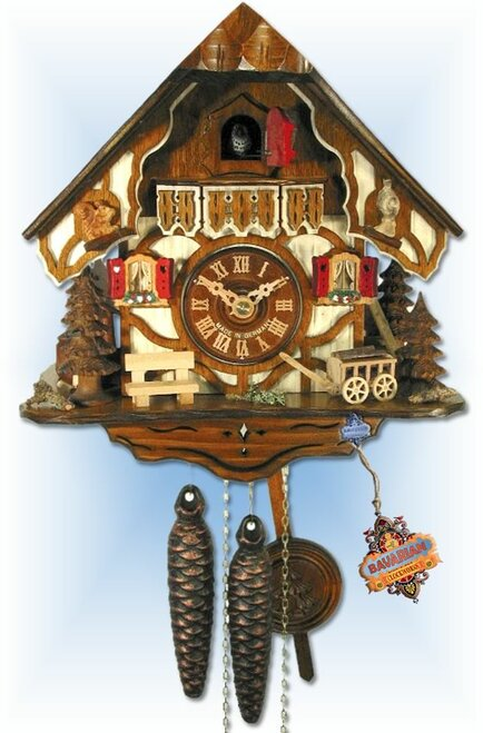 Forest Chalet cuckoo clock - full view