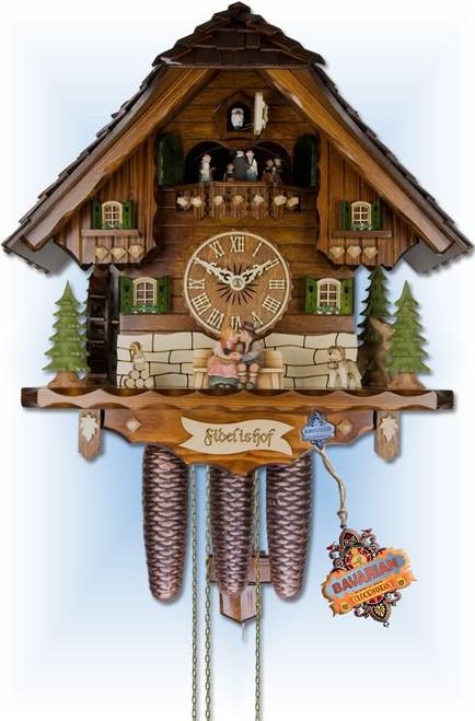 Bavarian Biergarten 17 inch German Cuckoo Clock | Side View