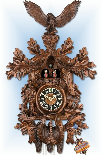 "Eagle Hunter 28"" Cuckoo Clock"