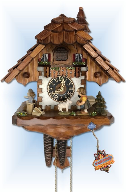 Girl and Goat   Cuckoo Clock   by Hones