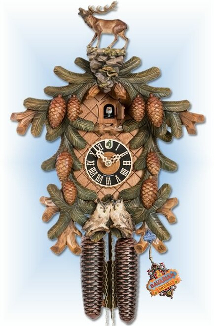 Stag and Owls | Cuckoo Clock | by Hones