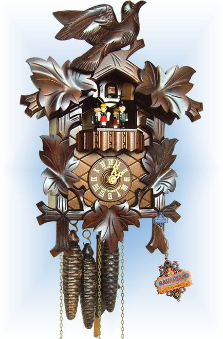 Schneider | 13''H | Musical Birds | Traditional | cuckoo clock | full view