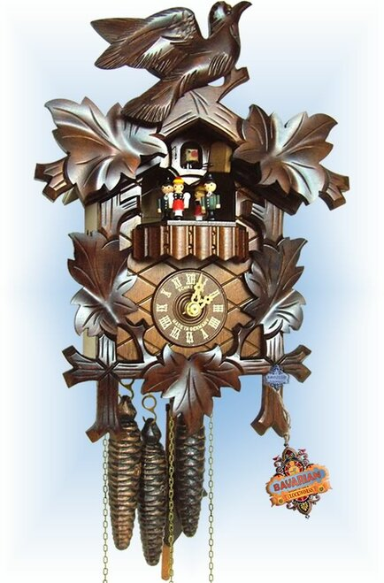 Schneider | 13''H | Musical Birds | Traditional | cuckoo clock | full view