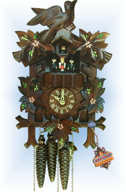 Schneider | 13''H | Cuckoo Flowers | Traditional | cuckoo clock | full view