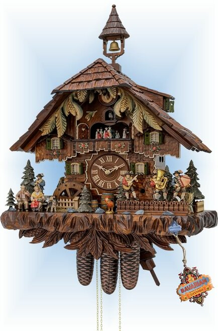 "Bavarian Band 25"" Cuckoo Clock by Hekas | Bavarian Clockworks"
