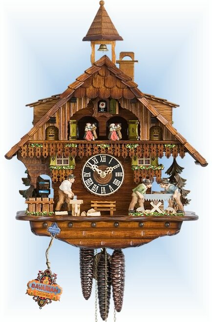 Hones | 6275t | 18''H | Millhouse | Chalet style | cuckoo clock | full view