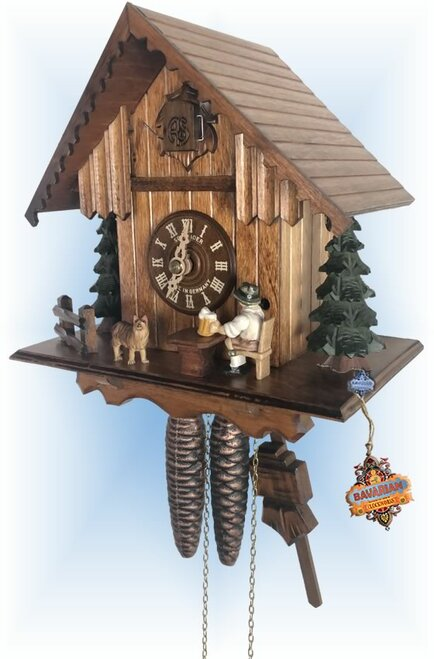 Cuckoo Clock chalet style 9 inch Froth and Friend by Anton Schneider - right