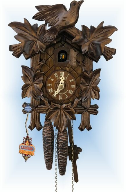 Cuckoo Clock carved style 9 inch Little Forest by Anton Schneider
