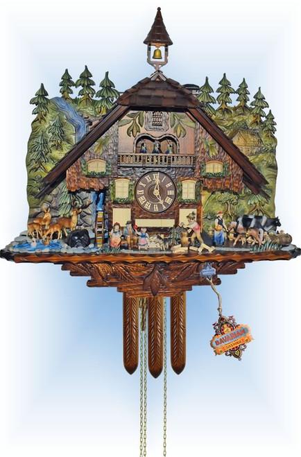 Cuckoo Clock chalet style 20 inch Forest Falls by Anton Schneider