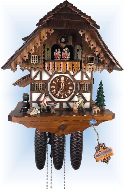 Cuckoo Clock vintage style 15 inch Chop N Saw by Anton Schneider