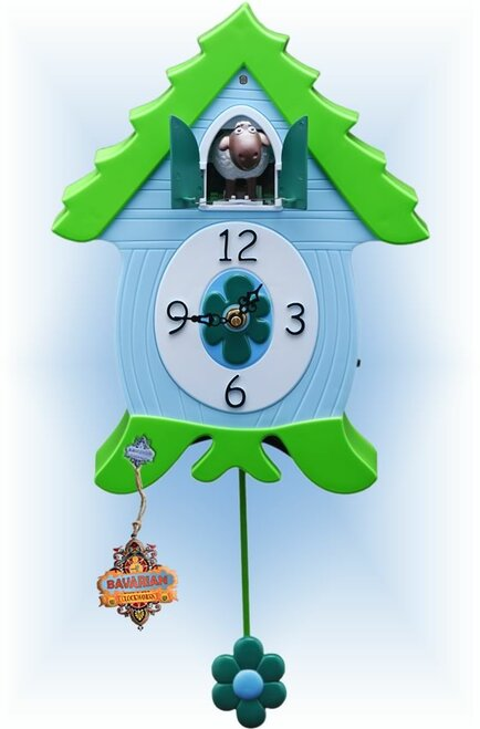 Cuckoo Clock kids quartz 12 inch Little Sheep by Bavarian Clockworks