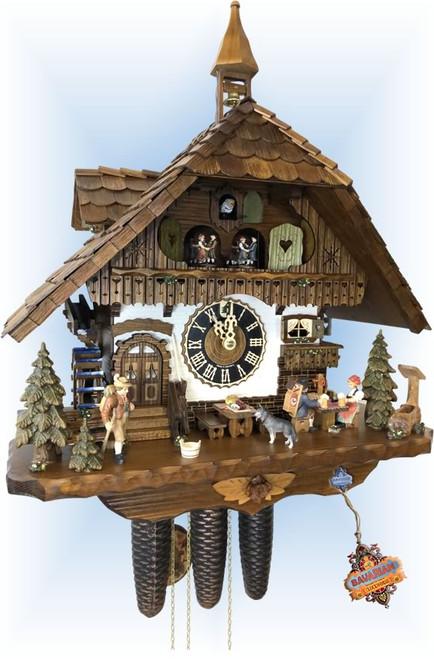 Cuckoo Clock chalet style 20 inch Zastler Hut by Hönes - slight angle