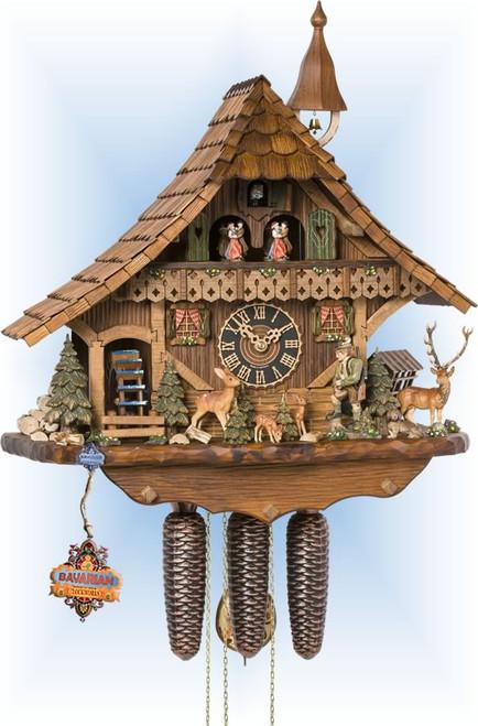 Cuckoo Clock chalet style 21 inch Hirsch Chalet by Hönes
