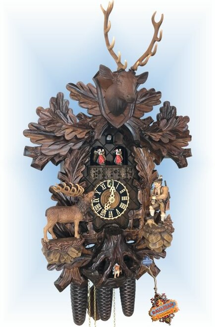 Moving Hunter Cuckoo Clock by Hones - full view